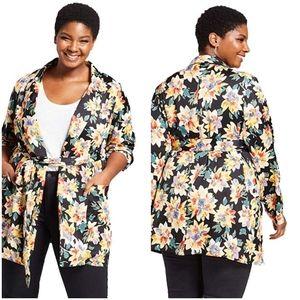 Floral Tie Front Blazer